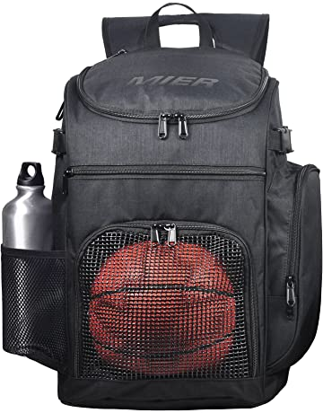 23d7941495f6 MIER Basketball Backpack Large Sports Bag for Men Women with Laptop  Compartment