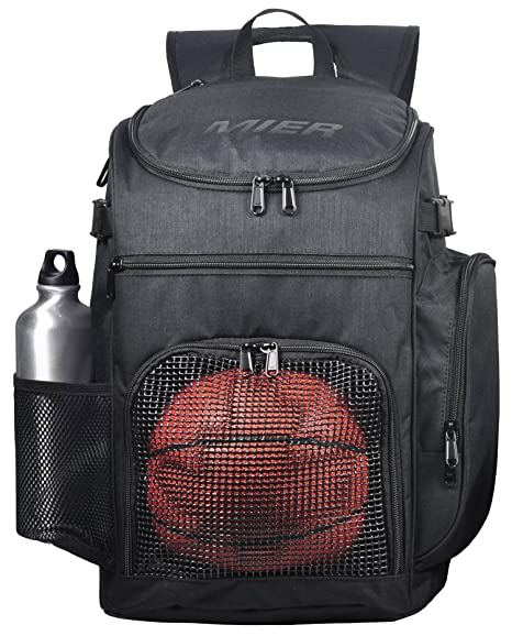 8593f32cc90 MIER Basketball Backpack Large Sports Bag for Men Women with Laptop  Compartment, Best for Soccer