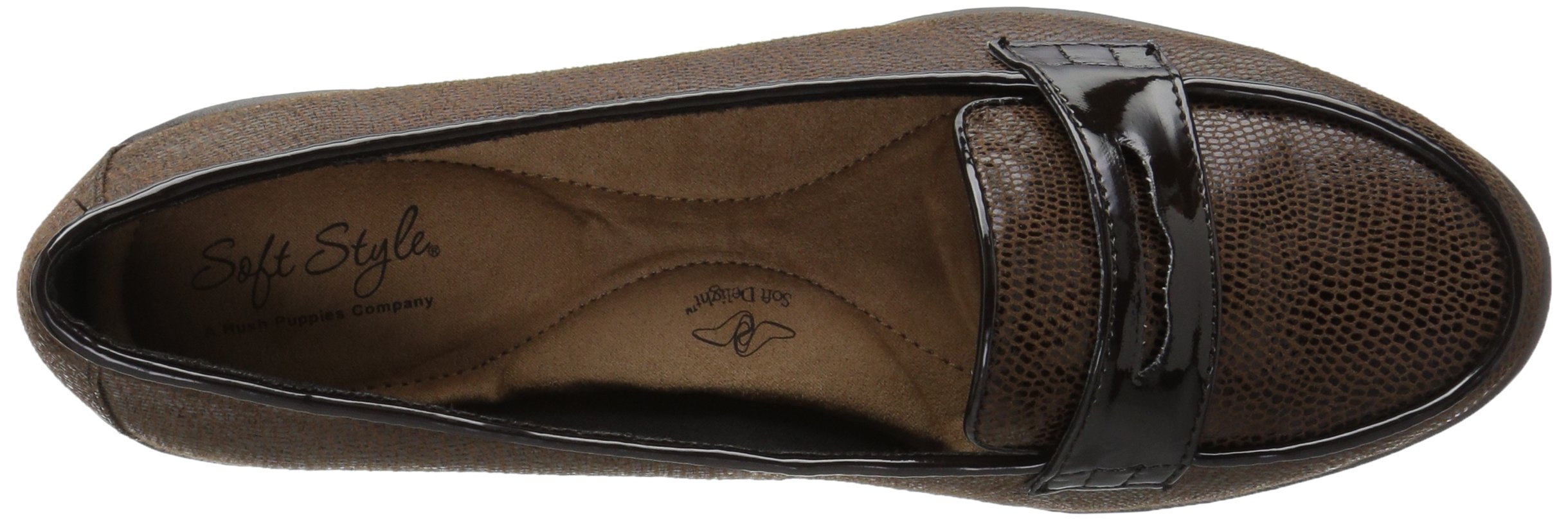 Soft Style by Hush Puppies Women's Daly Penny Loafer, Dark Brown Lizard/Patent, 8.5 W US by Soft Style (Image #8)