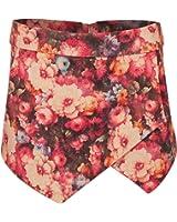 MyMixTrendz - New Women's Ladies Overlay Design Shorts Floral Print Skort