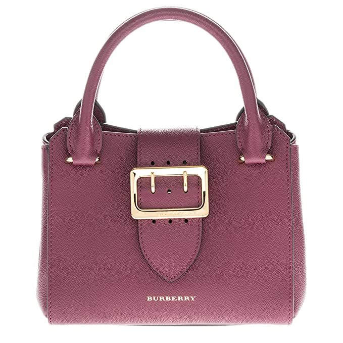 f5b533d5f747 Burberry Small Buckle Tote in Grainy Plum  Amazon.ca  Clothing   Accessories