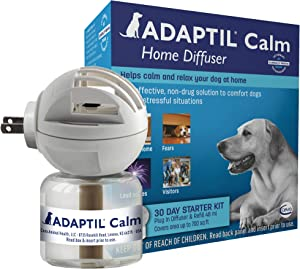 Adaptil Dog Calming Diffuser Kit (30 Day Starter Kit) | Vet Recommended | Reduce Problem Barking, Chewing, Separation Anxiety & More