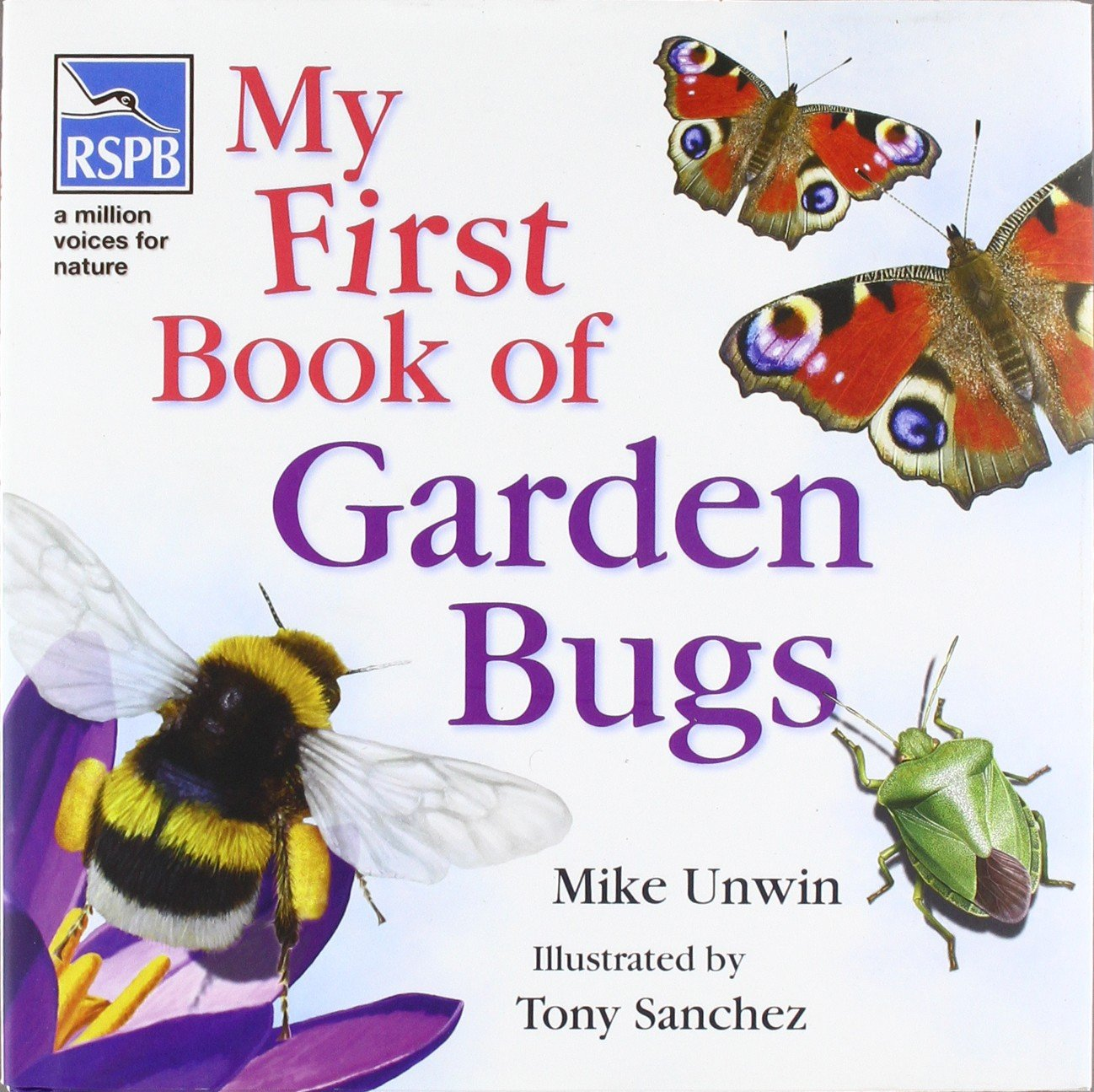 rspb my first book of garden bugs amazon co uk mike unwin