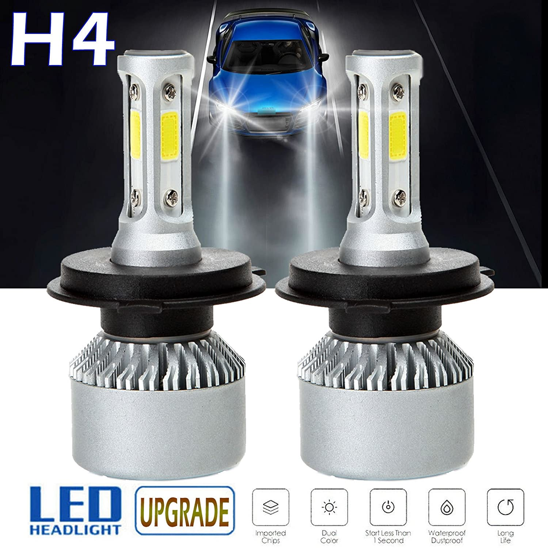 Super Bright 2x 9003 H4 HB2 35W LED Headlights Bulbs Kit//Fog Lights 6000K White