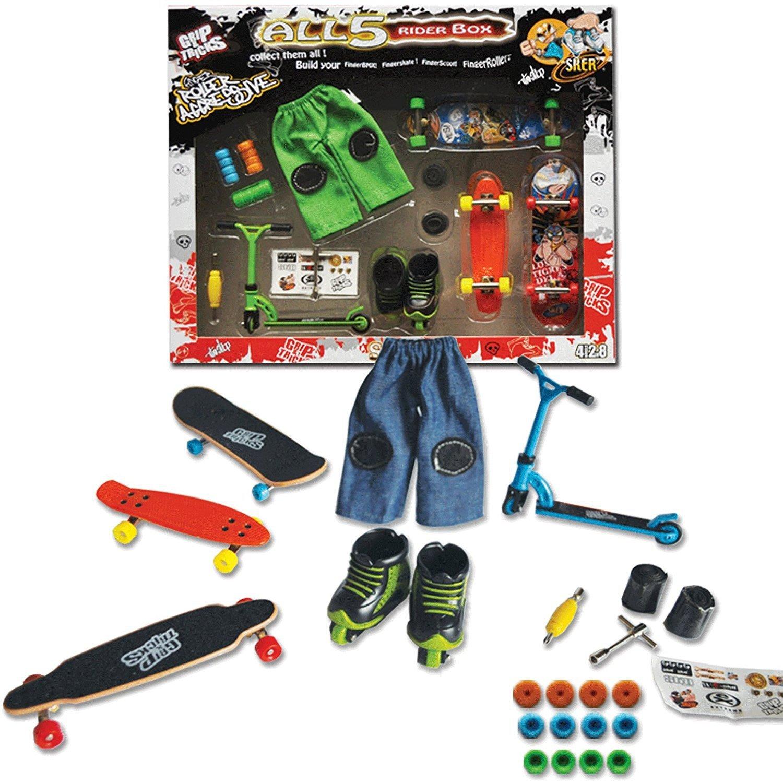 Grip&Tricks - 5RIDER BOX - GIFT SET OF - FINGER SKATES - ROLLER - SCOOTER - RAMPS by Grip&Tricks by Grip&Tricks (Image #1)