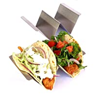 Taco Holder - Holds 2 Tacos Each - Stainless Steel Taco Holders Holds 2 Tacos - 2 Pack