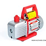 "3.5 CFM Single-Stage Rotary Vane Vacuum Pump (1-stage, 150micron, 29.91""Hg, 1/4HP, 1/4""flare 1/2""ACME inlet) for HVAC/Auto AC Refrigerant Recharging, Wine Degassing, Milking, Medical, Food processing"
