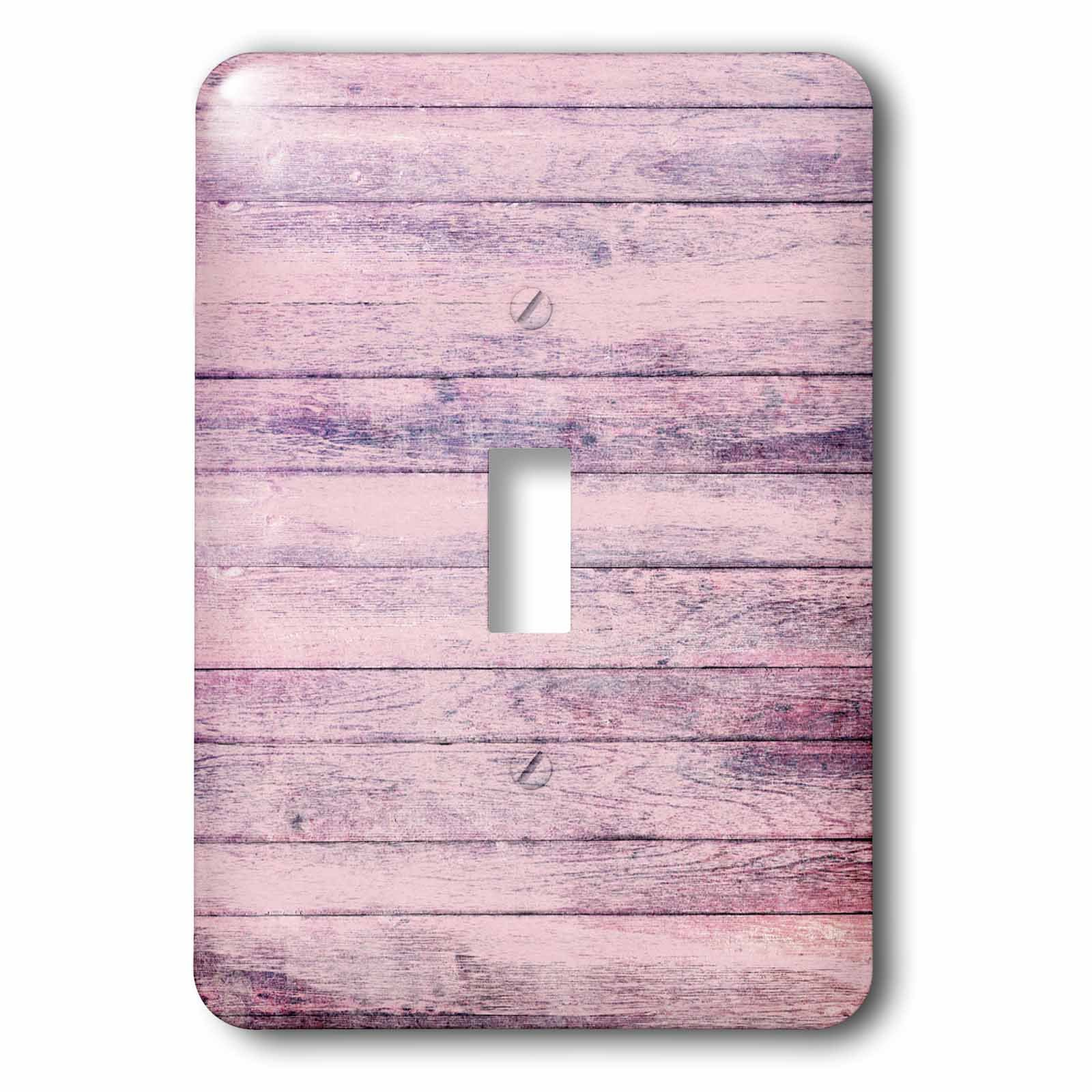 3dRose Anne Marie Baugh - Textures - Chic Purple Printed Faux Wood - Light Switch Covers - single toggle switch (lsp_283311_1)