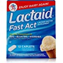 12 Pack Lactaid Fast Act Lactose Intolerance Relief Caplets