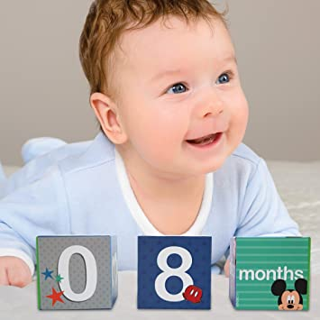 711d4fbcc Image Unavailable. Image not available for. Color: Disney Baby Boys Mickey  Mouse Monthly ...