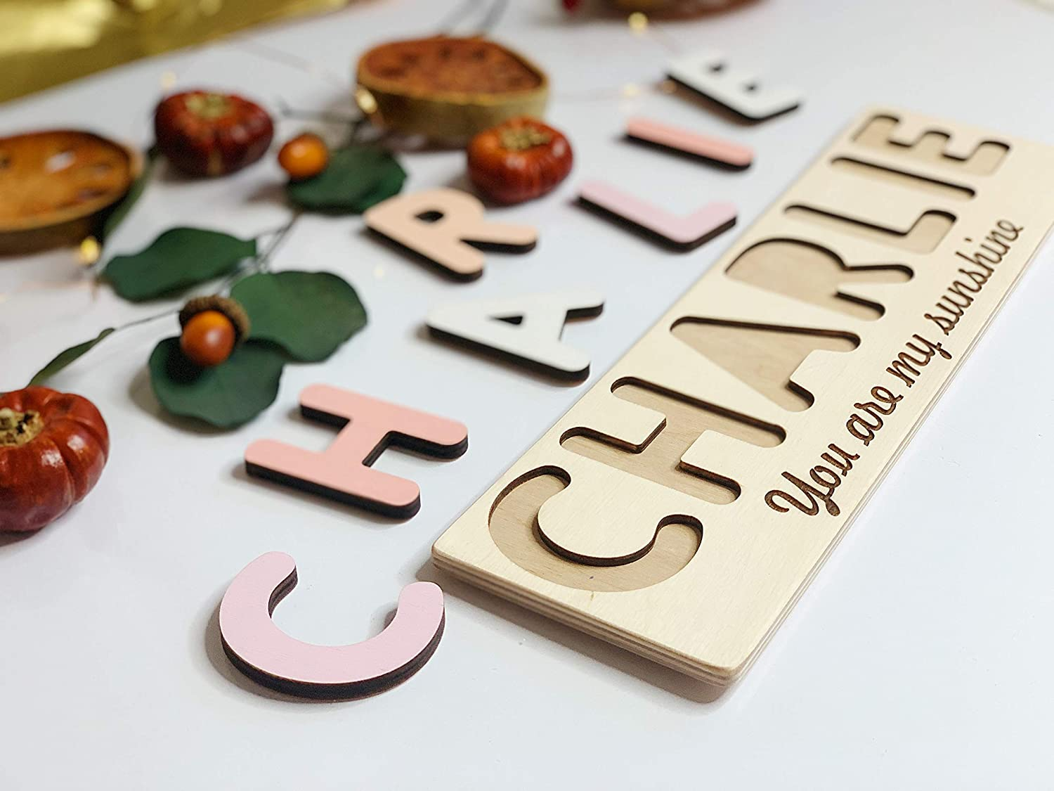 Baby Shower Gift Montessori Toys 1st Birthday Pastel Name Puzzle Busy Puzzle Personalized Baby Puzzle