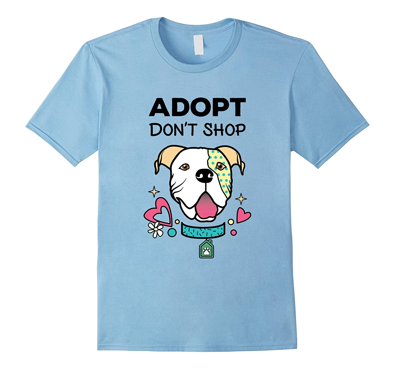 Adopt Don't Shop Rescue and Shelter Graphic T-Shirt-BN