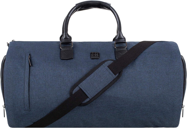 Sac pour Ordinateur Portable /étiquette de Bagage Inclus Sac de Voyage pour Homme Sac de Voyage et Sac de Voyage 2 en 1 Gris Bleu Marin Navy Blue