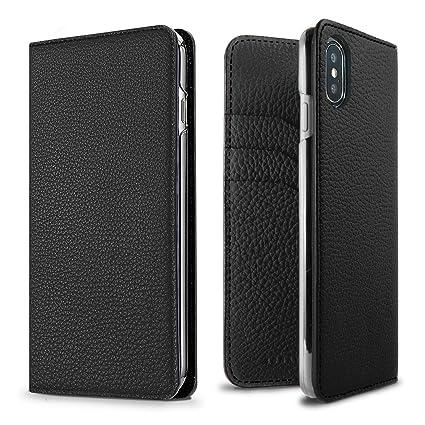 online retailer 9caaf 09ede BONAVENTURA Leather Wallet Diary Flip Case [Compatible iPhone SE/5s/5 |  Black]
