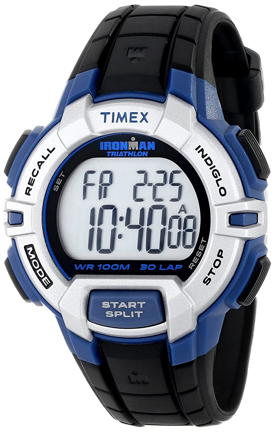 Timex Men s T5K791 Ironman Traditional Sport Watch with Black Resin Band