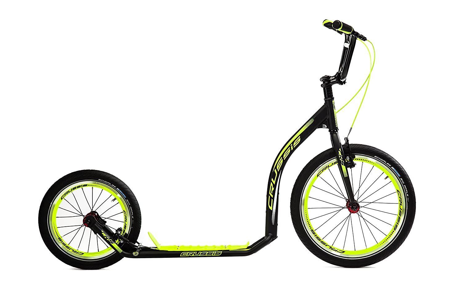 Crussis Active 4.4 6 ft. 5 in. Adult Sport Kick Scooter - Black & Neon