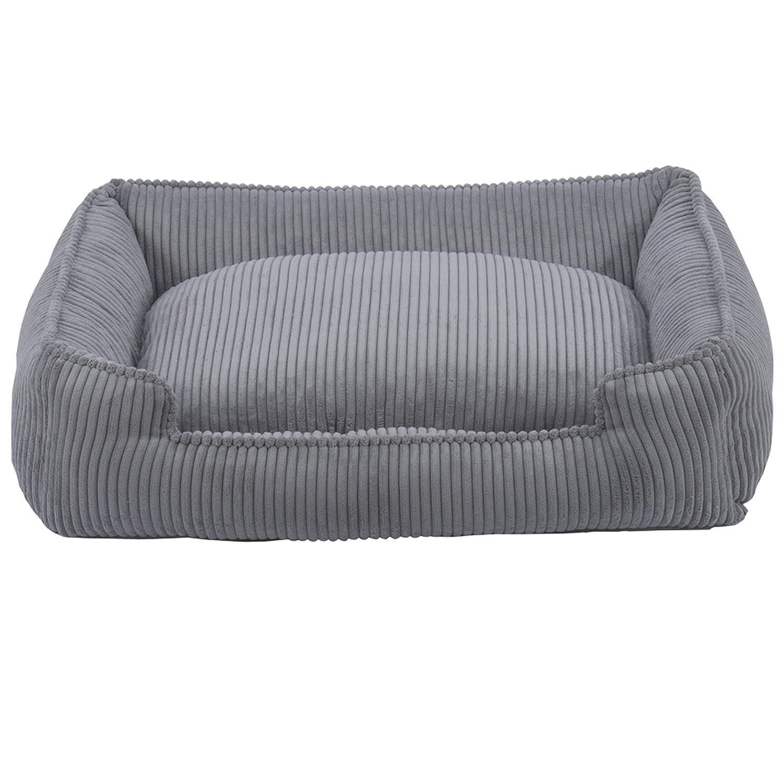 Dove Grey Medium 32x27x10 Dove Grey Medium 32x27x10 Jax & Bones Corduroy Lounge Dog Bed, Dove Grey, Medium 32x27x10-Inch