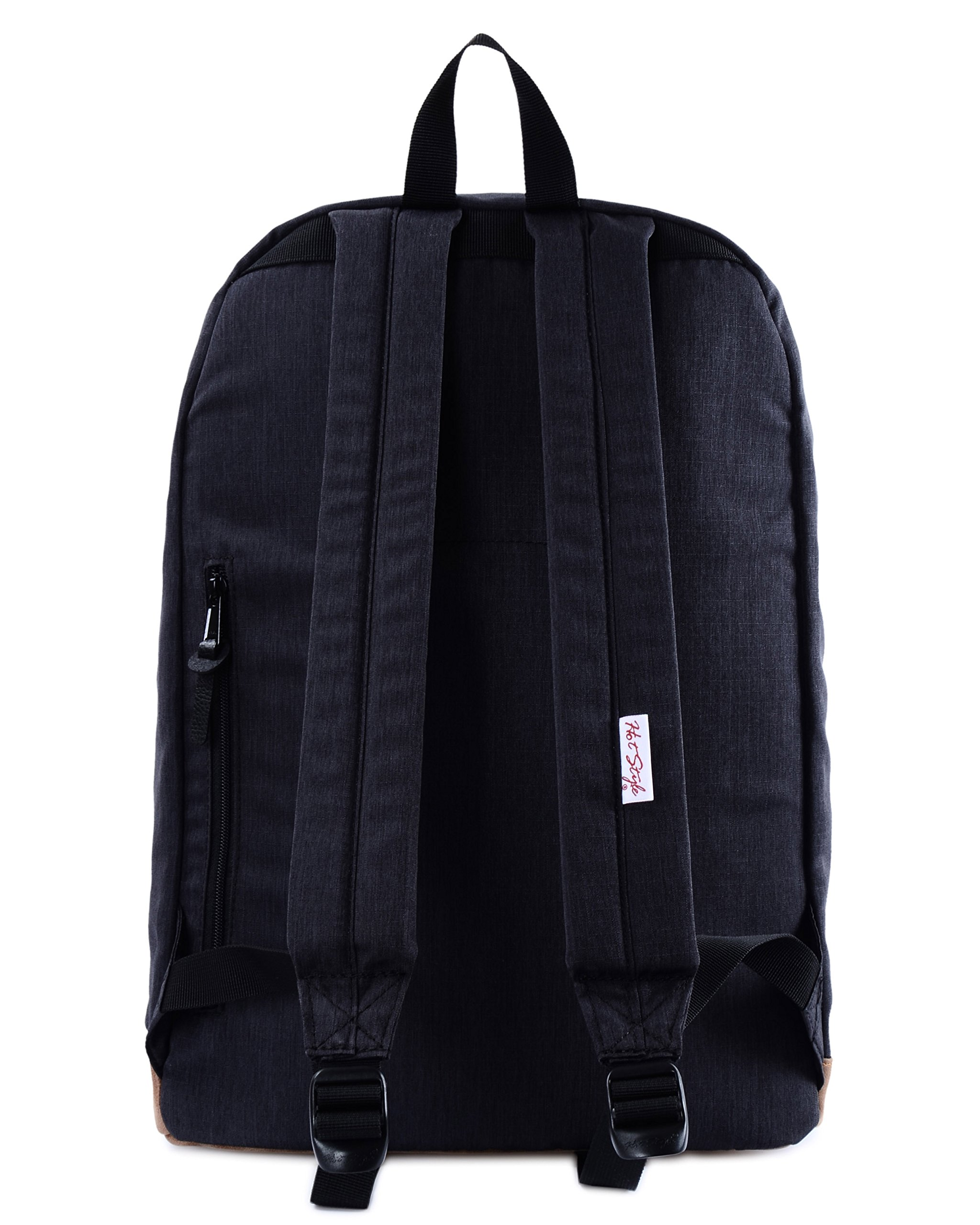 936Plus College School Backpack Travel Rucksack | Fits 15.6'' Laptop | 18''x12''x6'' | Black by hotstyle (Image #3)