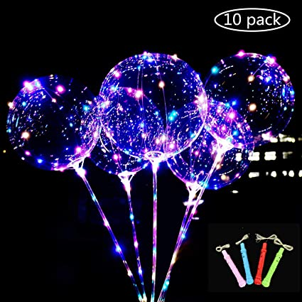 Amazon.com: 8 paquetes de globos de luz LED BoBo coloridos ...