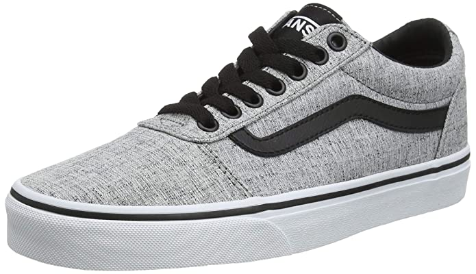 Vans Herren Ward Canvas Sneaker Grau Textile Gray/White Qoq