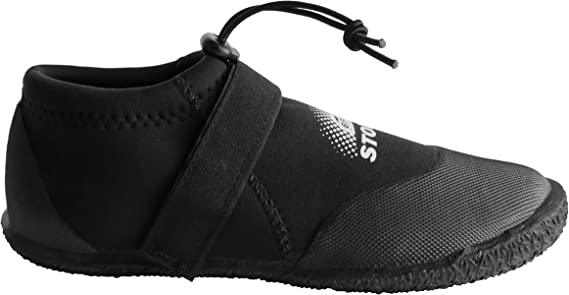 Wakeboarding Scuba Diving Canoeing BPS 3mm Neoprene Watersports Dive Shoes w//Rubberized Sole for Snorkeling Kayaking Slip on-and-Off Sneaker Style Design