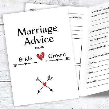 Olivia Samuel Wedding Advice Cards For The Bride And Groom Wedding