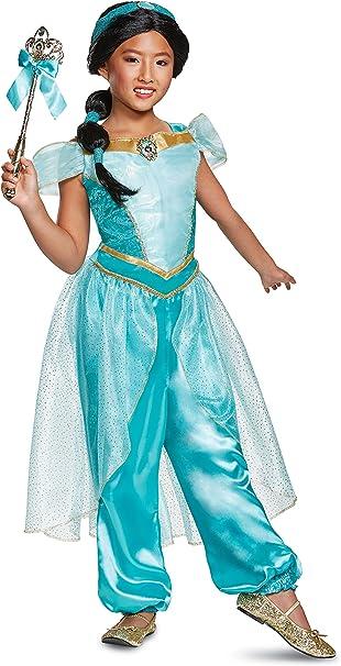 Disfraz de jazmín niñas de Aladdin, Verde Azulado, Size/(4-6x ...