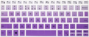 Leze - Ultra Thin Silicone Laptop Keyboard Skin Protector for 13.3-Inch Dell XPS 13 9370 9380,XPS 13 9365 2-in-1 Touch-Screen Laptop - Gradual Purple