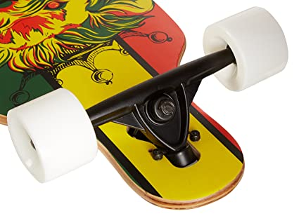 Krown Rasta Freestyle Elite Complete Longboard, 9.25x36-Inch