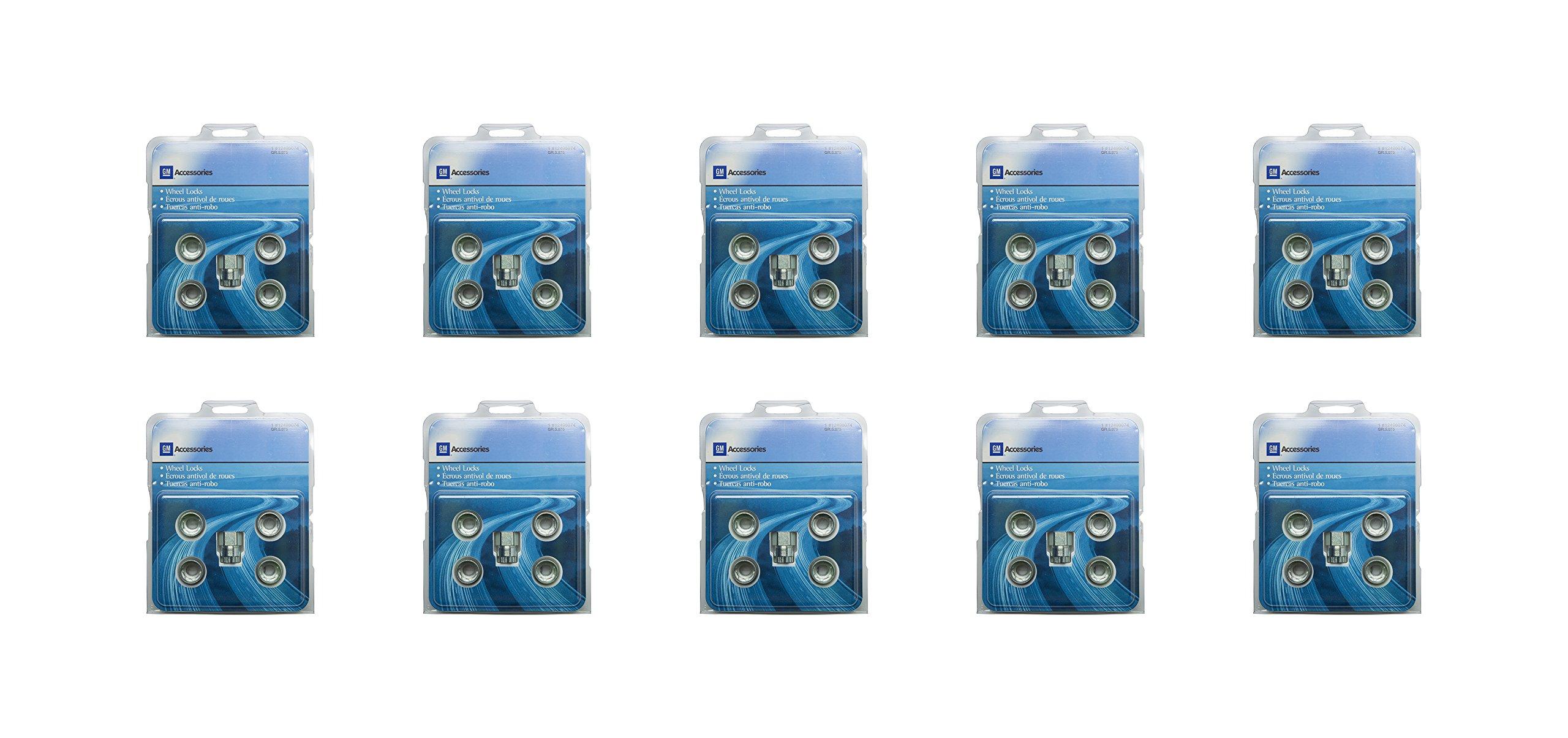 GM Accessories 12498081 M12x1.5x31.2 Wheel Lock Kit (Pack of 10)
