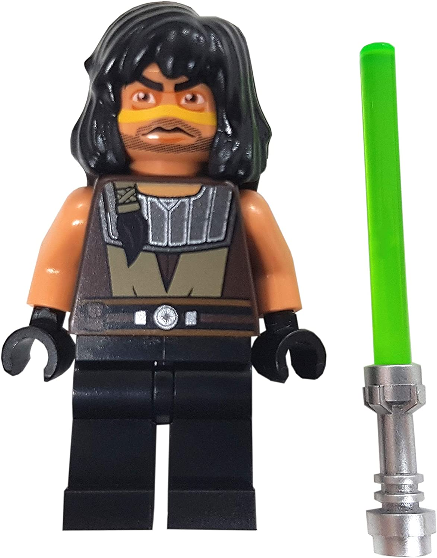 LEGO STAR WARS CLONE WARSMINIFIGURE QUINLAN VOS JEDI GREEN LIGHTSABER 75151