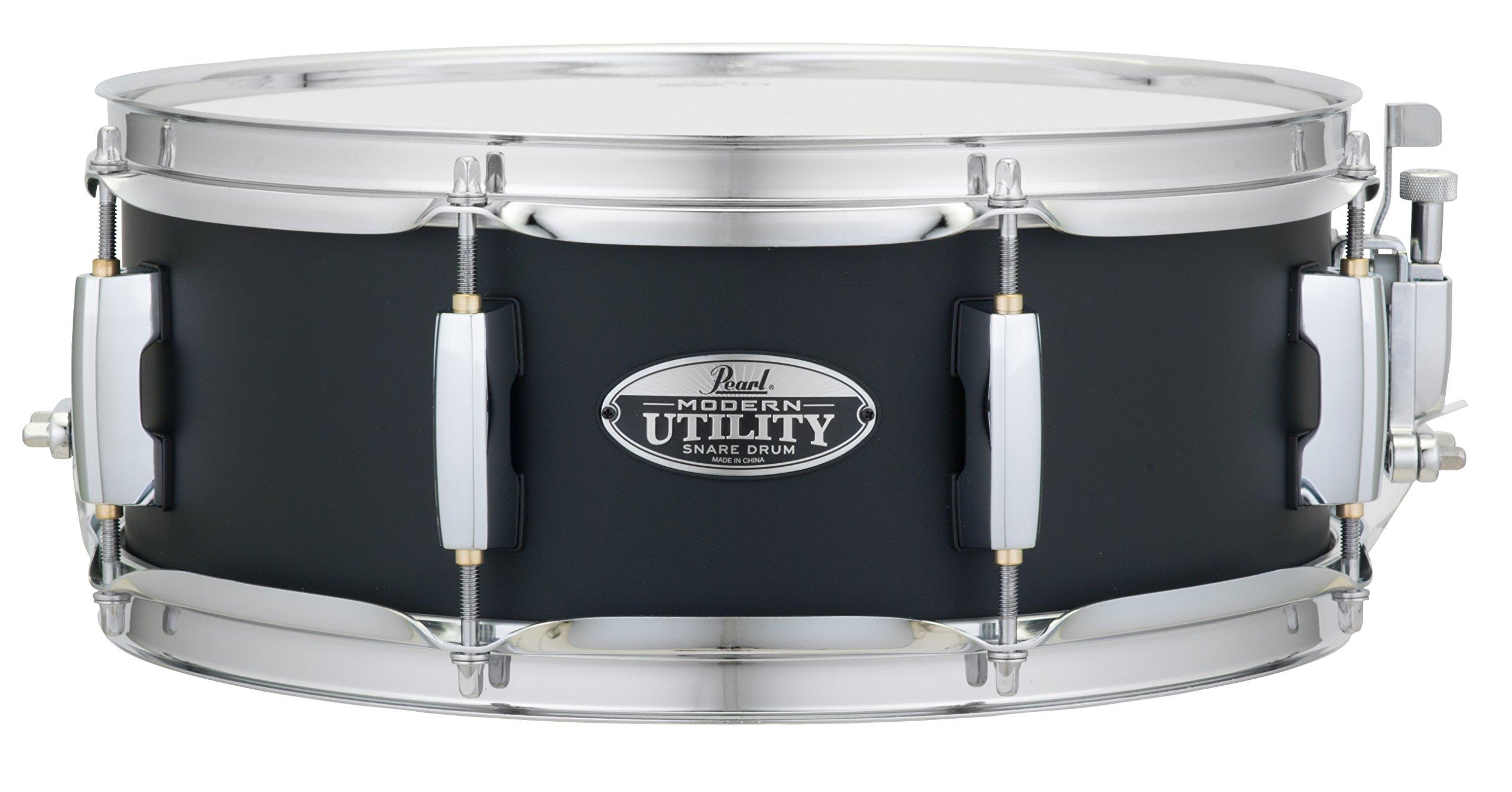 Pearl MUS1350M227 Modern Utility 13''x5'' Maple Snare Drum, Satin Black