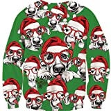 Leapparel Big Tall Adult Christmas Sweatshirt 3D