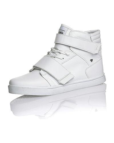 53282987275 Cash Money Basket homme montante blanche - couleur  Blanc - taille ...