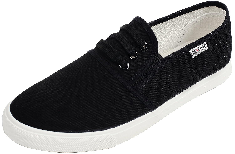 UJoowalk Womens Canvas Slip On Sneaker Loafer Flats B079HPBLQK 9.5 B(M) US|Black