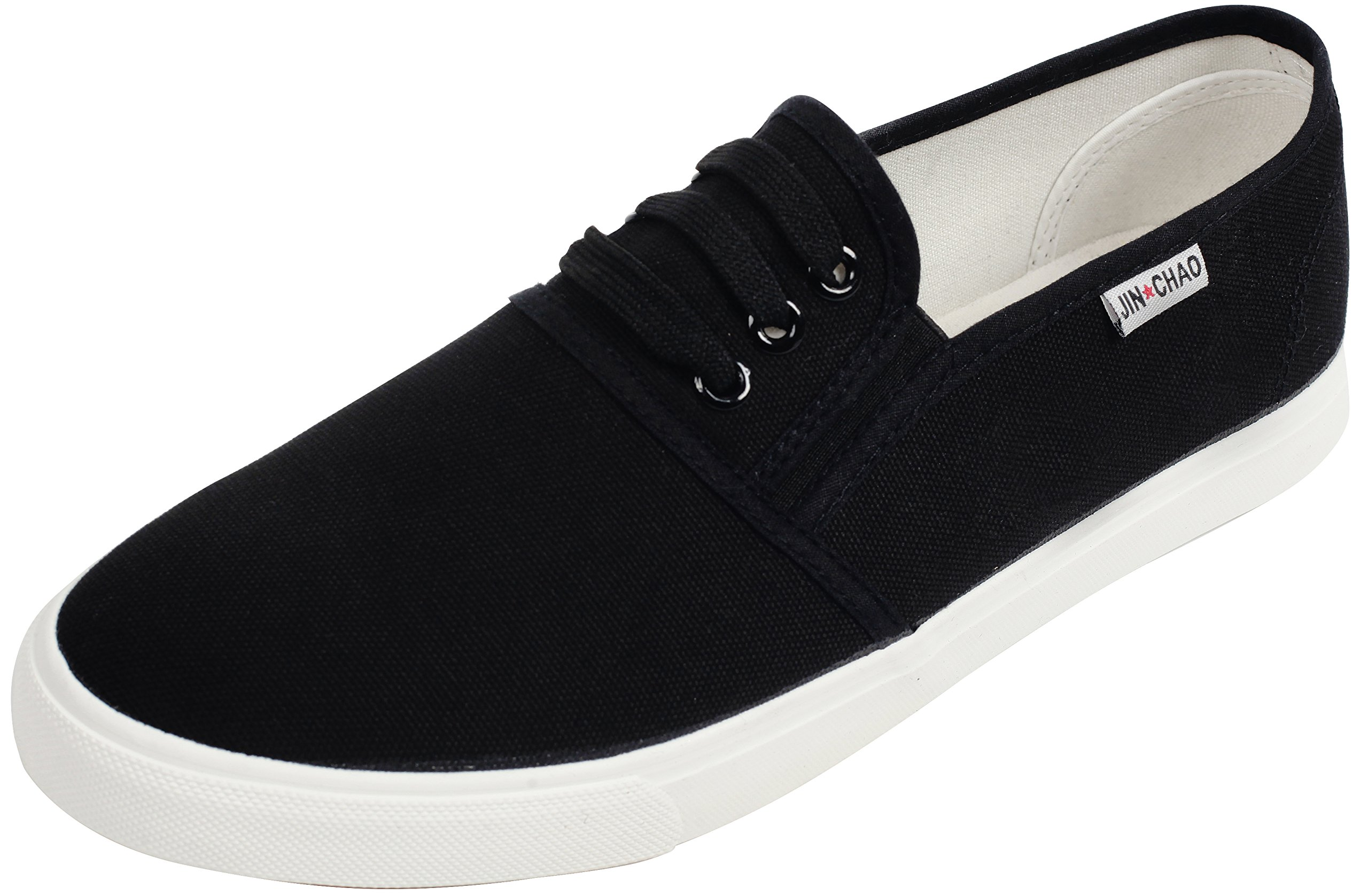 UJoowalk Womens Comfortable Casual Soft Black Canvas Slip On Loafers Fashion Sneakers - Size 9