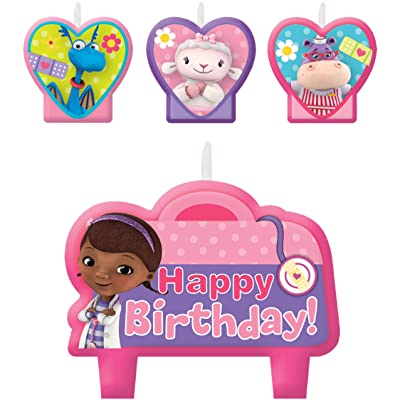 amscan Doc McStuffins Birthday Party Cake Candles - 4ct: Toys & Games