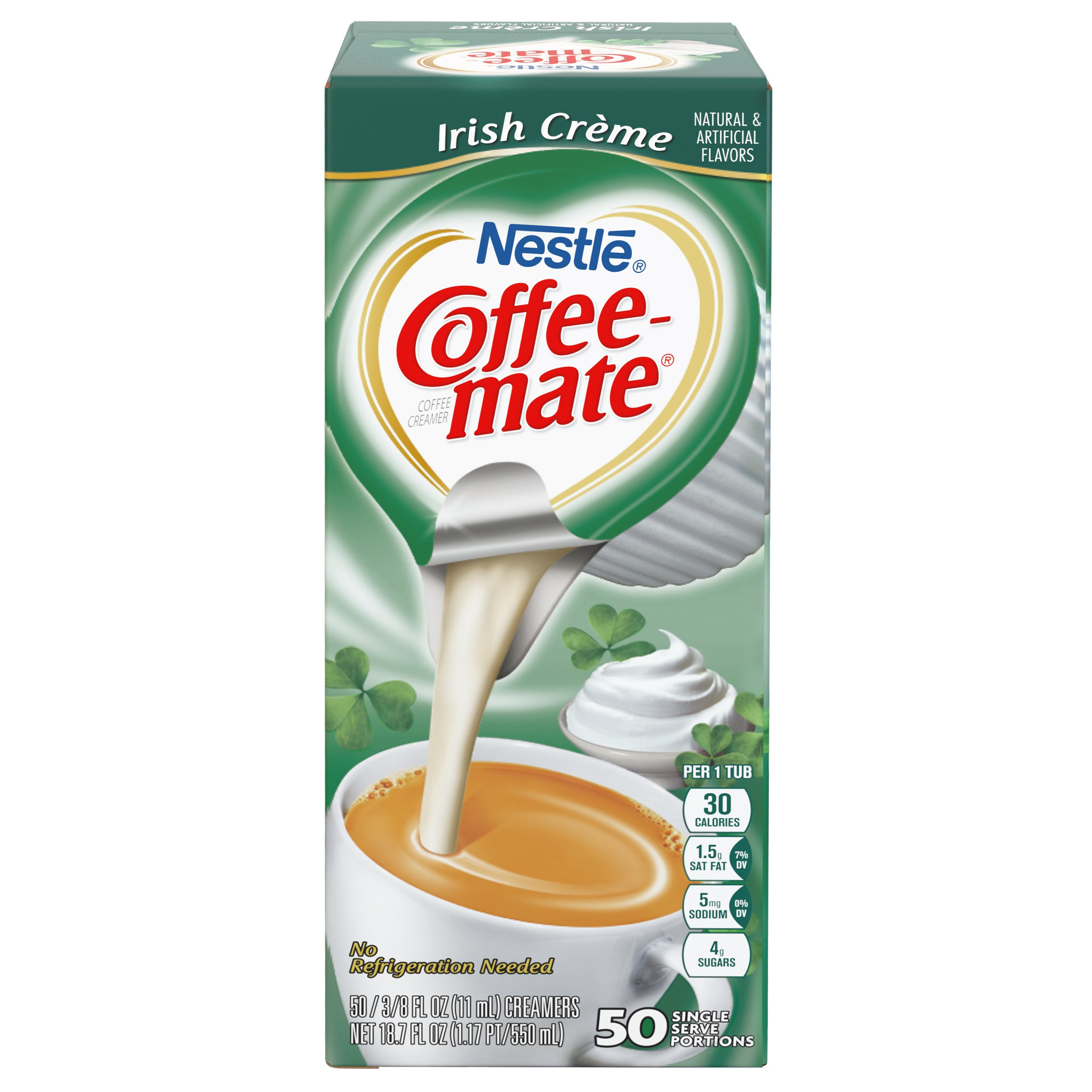 NESTLE COFFEE-MATE Coffee Creamer, Irish Creme, liquid creamer singles, 50 Count (Pack of 4) by Nestle Coffee Mate (Image #4)