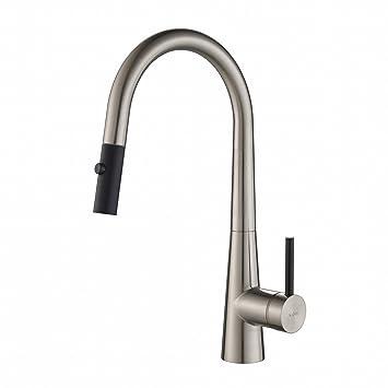 Kraus KPF-2720SS Modern Crespo Single Lever Pull Down Kitchen Faucet ...