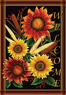Toland Home Garden Sunflower Welcome 12.5 X 18 Inch Decorative USA Produced Garden  Flag