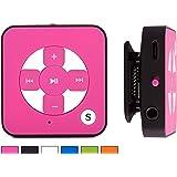 BERTRONIC ® MP3-Player Everest Royal - Pink - Mini Musik Player mit Gürtel-Clip Funktion, microSD Steckplatz für Karten bis 32 GB, ohne internen Speicher - Akkulaufzeit bis zu 15 Stunden - Robustes Metallgehäuse
