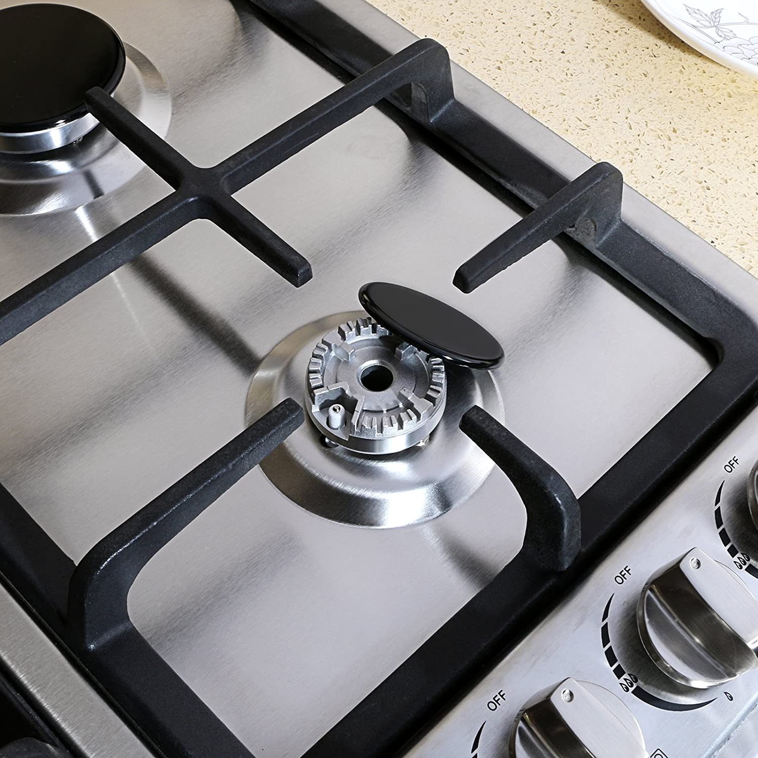 METAWELL 23 Stainless Steel 4 Burners Stove Natural Gas Hob Cooktops 11259Btu 3300W Cooker Ship from CA,US