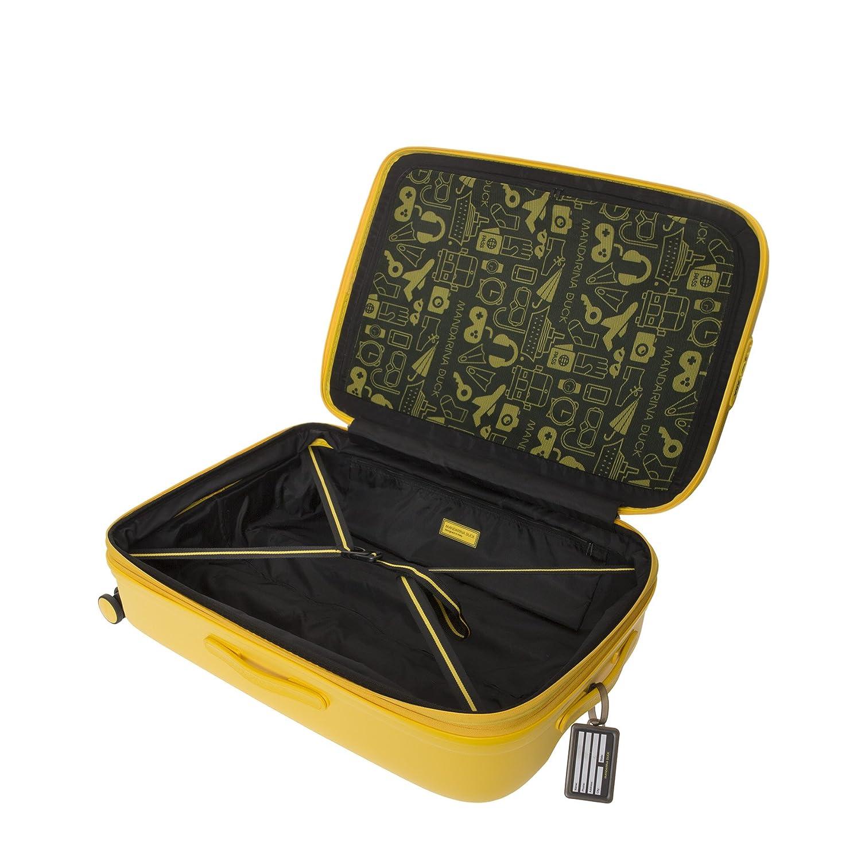 Mandarina Duck Logoduck+ Trolley Rigido 75cm 4 Ruote Large Espandibile P10SZV33-Duck Yellow