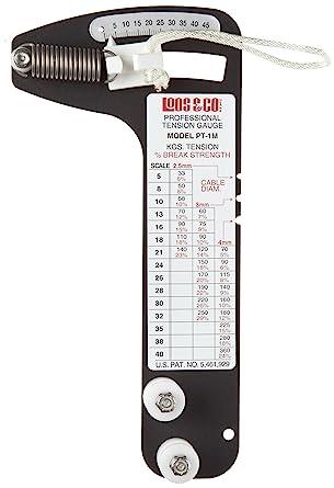 Loos Cableware - Medidor de tensión, sistema métrico, 360 kg, 1