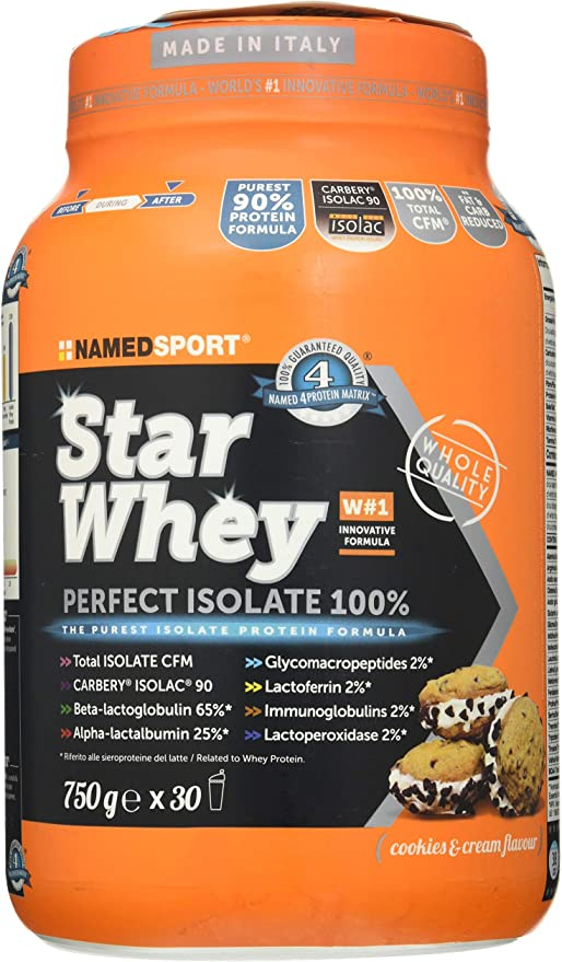Named Sport PROTEINA STAR WHEY ISOLATE GALLETA 750G: Amazon ...
