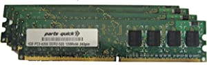 parts-quick 4GB Memory Upgrade for Dell Dimension E510 E510n Desktop PC 4 X 1GB DDR2 Non-ECC PC2-4200 240 pin 533MHz DIMM RAM Brand