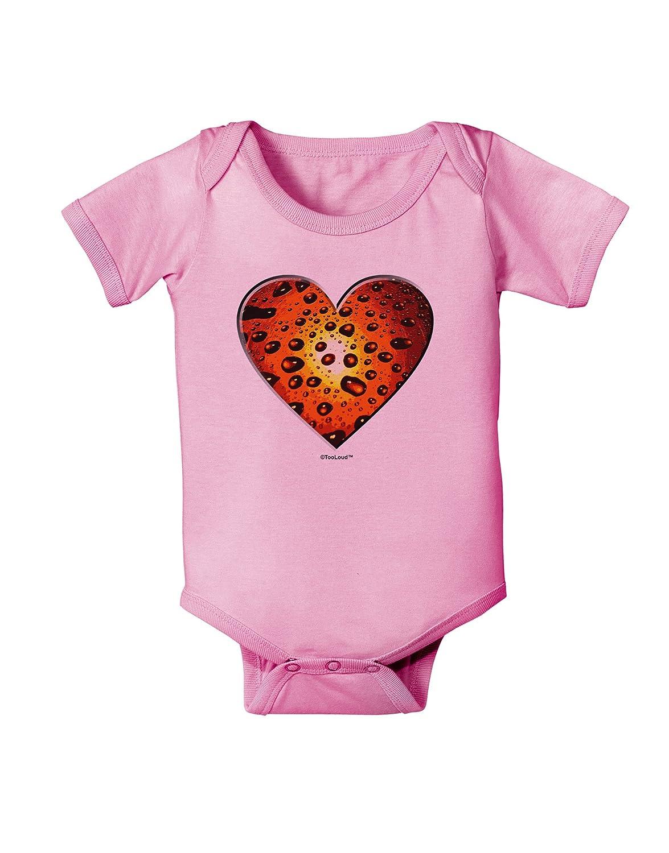 TooLoud Water Droplet Heart Orange Baby Romper Bodysuit