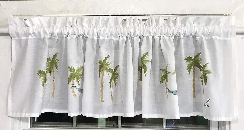 Paradise Palm Tree Window Valance