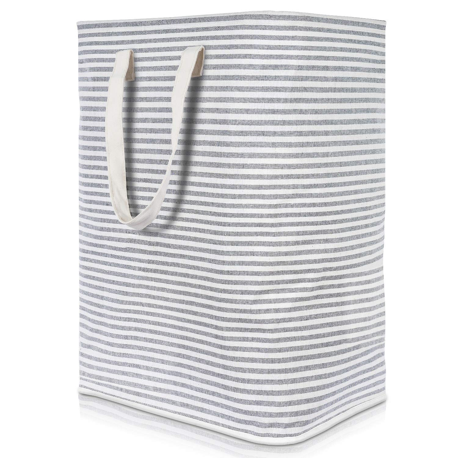 Lifewit 23.6'' Freestanding Laundry Hamper Clothes Hamper Large Basket with Extended Handles to Storage Clothes Toys for Bedroom, Bathroom, Foldable, Grey