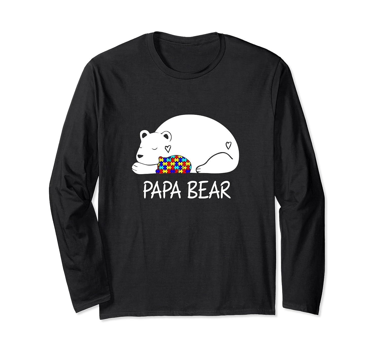 cdff4fdf Papa Bear Autism Awareness Long Sleeve Gift for Men, Dad Tee-ah my shirt